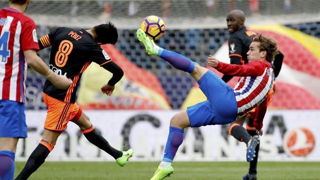 La «esencia» del Atlético aplasta al Valencia
