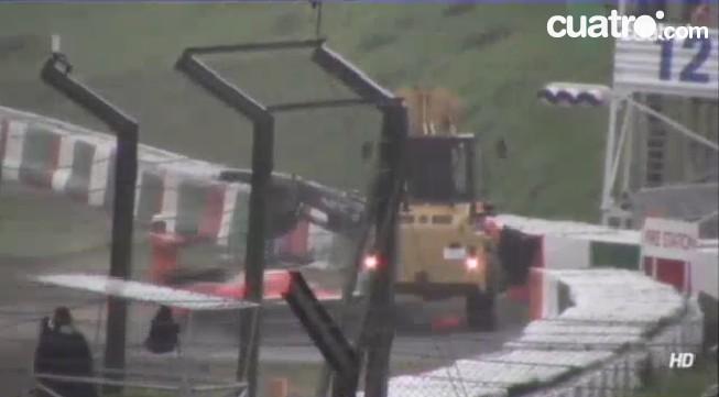 Así fue el accidente de Jules Bianchi en Suzuka