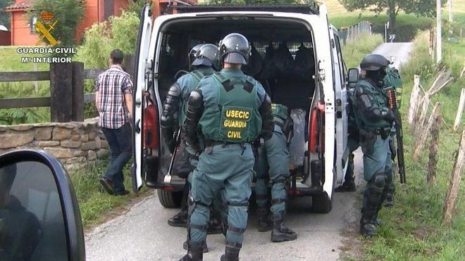 La Guardia Civil de Cantabria desarticula una red internacional de narcotráfico