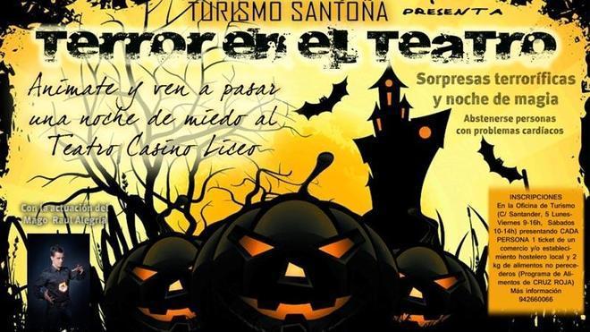Santoña organiza una 'Noche de terror' en el Teatro Liceo
