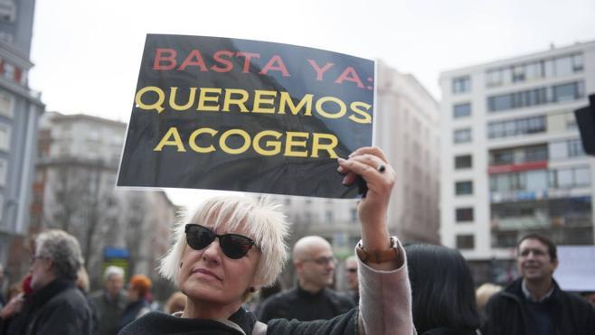 Manifestación a favor del acogimiento de refugiados